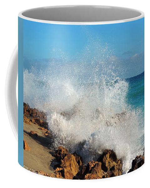 Rocks Coffee Mug featuring the photograph Ross Witham Beach 2 by Nancy L Marshall