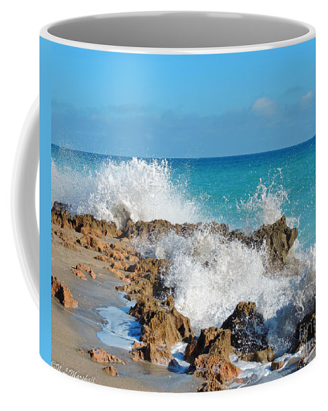 Rocks Coffee Mug featuring the photograph Ross Witham Beach 3 by Nancy L Marshall