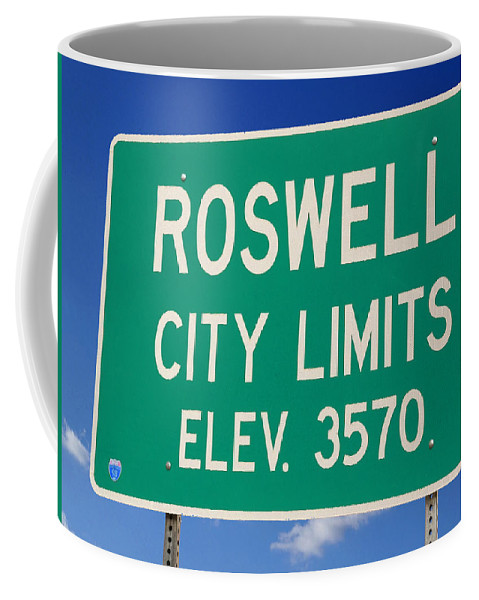 Roswell Coffee Mug featuring the photograph Roswell New Mexico by Bob Pardue