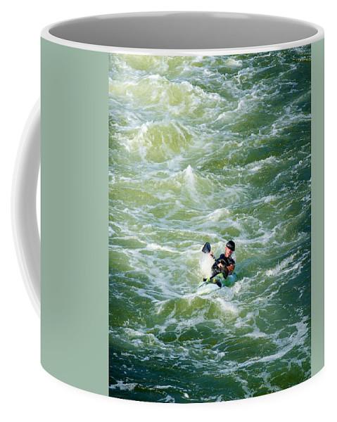 Kayak Coffee Mug featuring the photograph Rough Water by David Kay