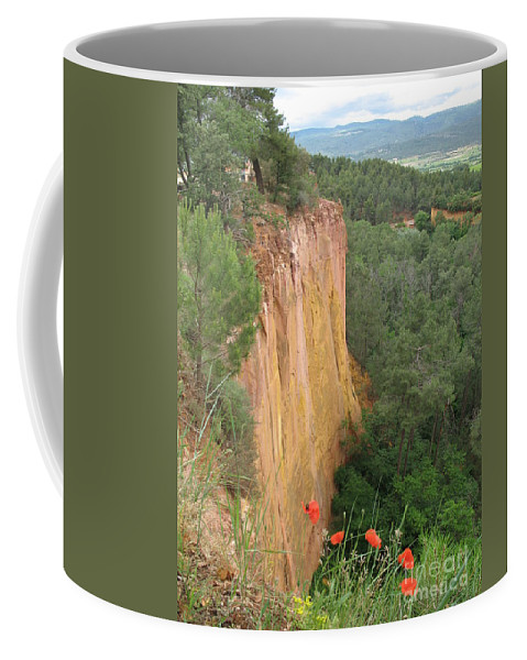 Red Rocks Coffee Mug featuring the photograph Roussillon Red Rock Landscape by Christiane Schulze Art And Photography