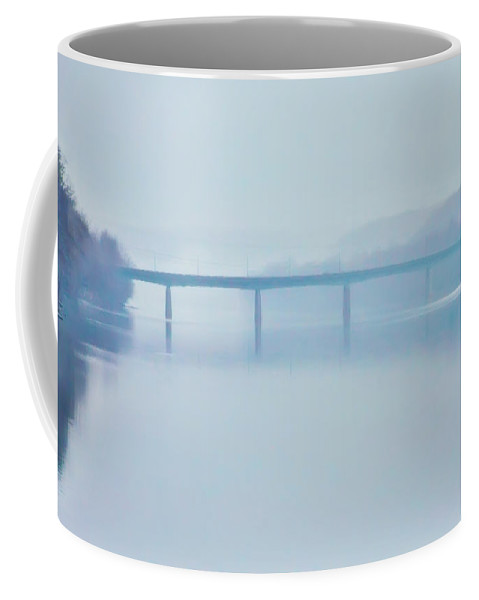 Route Coffee Mug featuring the photograph Route 202 Bridge Over The Delaware River by Bill Cannon