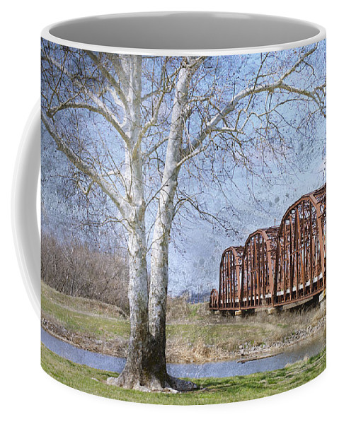 Route 66 Bridge Coffee Mug featuring the photograph Route 66 Bridge by Betty LaRue