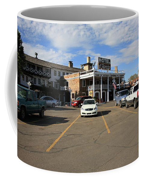 66 Coffee Mug featuring the photograph Route 66 - El Rancho Hotel by Frank Romeo