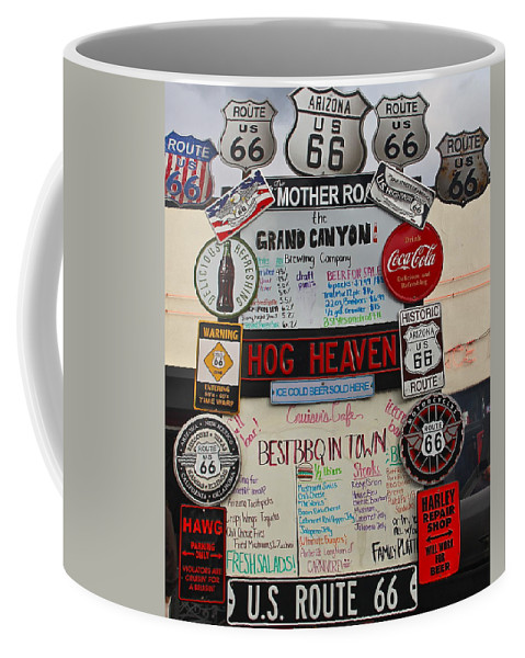 Route 66 Coffee Mug featuring the photograph Route 66 Signs by Denise Mazzocco