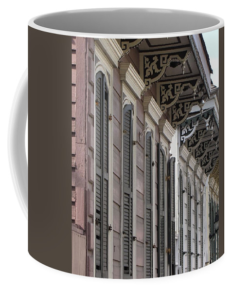 Row Of Houses Coffee Mug featuring the photograph Row Of Houses by Beth Vincent