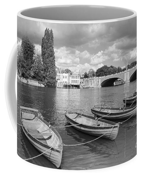 Rowing Boats Thames Uk Hampton Court Coffee Mug featuring the photograph Rowing Boats by Julia Gavin