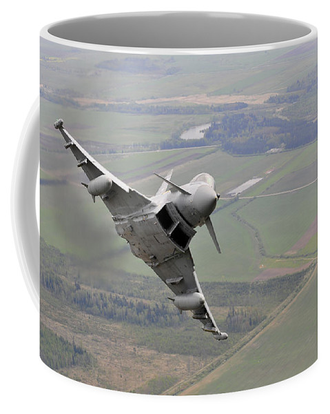 Royal Air Force Coffee Mug featuring the photograph Royal Air Force Typhoon Fgr4 by Paul Fearn