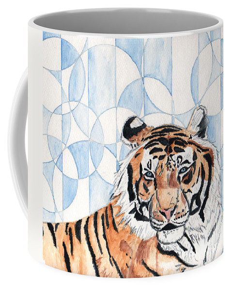 Tiger Coffee Mug featuring the painting Royal Mysticism by Crystal Hubbard