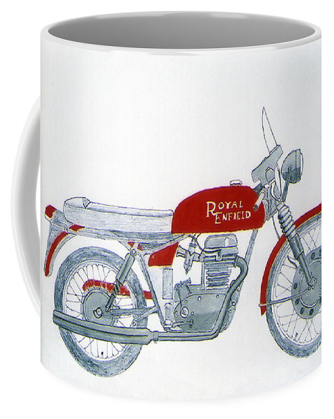 Kick Coffee Mug featuring the drawing Royal Oil by Stephen Brooks