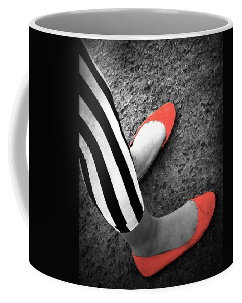 Red Shoes Coffee Mug featuring the photograph Rubies And Stripes by The Artist Project