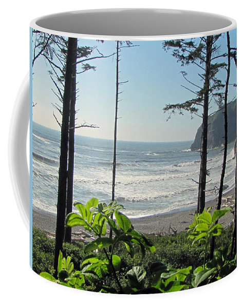 Ruby Beach Coffee Mug featuring the photograph Ruby Beach I by Tikvah's Hope