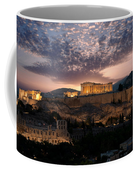 Photography Coffee Mug featuring the photograph Ruins Of A Temple, Athens, Attica by Panoramic Images
