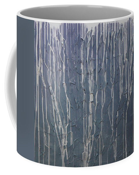 Abstract Coffee Mug featuring the painting Ruins by Sergey Bezhinets