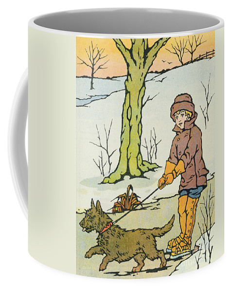 Winter Coffee Mug featuring the painting Run Dandy Run by Anonymous