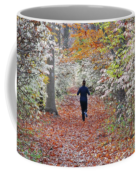 Run Coffee Mug featuring the photograph Run Through The Woods by Allen Beatty