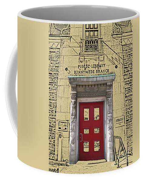 Toronto Coffee Mug featuring the photograph Runnymede Library by Nina Silver