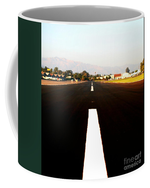 Abstract Coffee Mug featuring the photograph Runway by Henrik Lehnerer