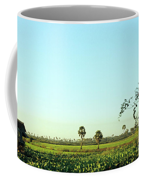 Cambodia Coffee Mug featuring the photograph Rural Cambodia by Rick Piper Photography