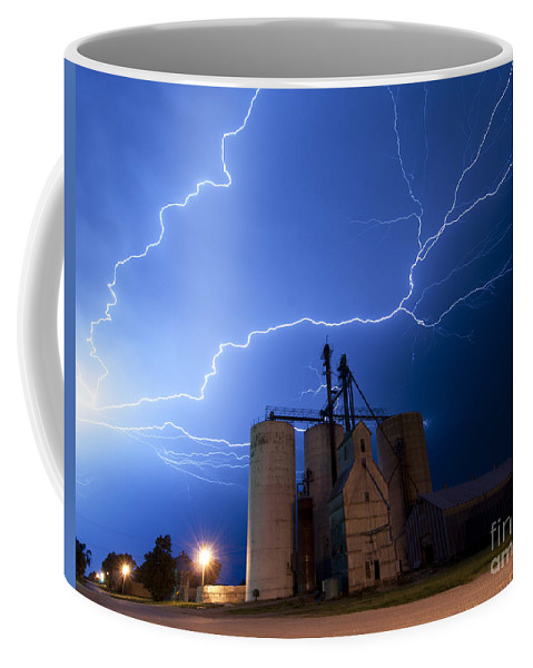 Lightning Coffee Mug featuring the photograph Rural Lightning Storm by Art Whitton