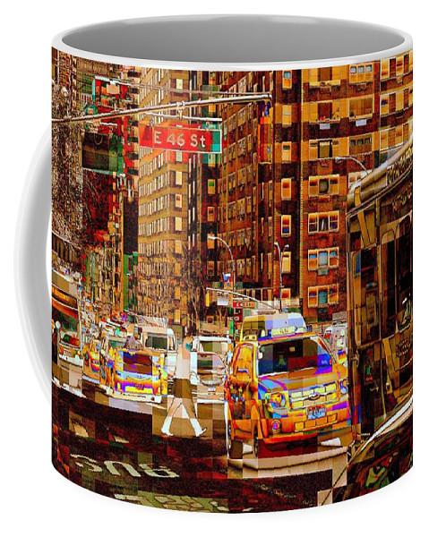 Traffic Coffee Mug featuring the photograph Rush Hour - Traffic In New York by Miriam Danar