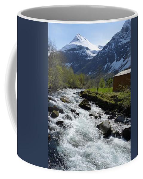 Coffee Mug featuring the photograph Rushing Stream by Katerina Naumenko