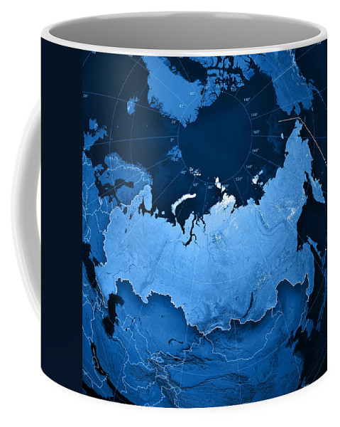 Russia Topographic Map Coffee Mug For Sale By Frank Ramspott