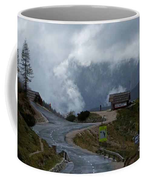 Russian Road Coffee Mug featuring the photograph Russian Road - Slovenia by Phil Banks