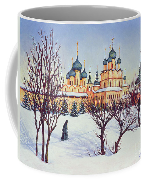 Russian Winter Coffee Mug featuring the painting Russian Winter by Tilly Willis
