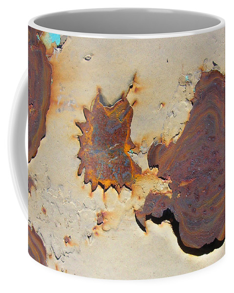 Rust Coffee Mug featuring the painting Rust #1 by Susan Porter
