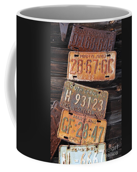Rusted Coffee Mug featuring the photograph Rusted States by Diane Greco-Lesser