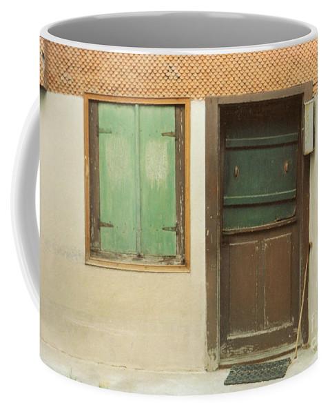 Wooden Door Coffee Mug featuring the photograph Rustic Door by Christine Jepsen