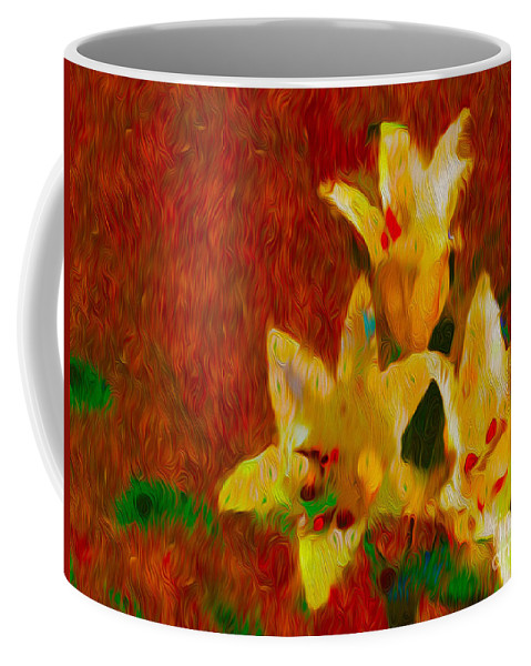 Lily Coffee Mug featuring the photograph Rustic Lilies by P Donovan