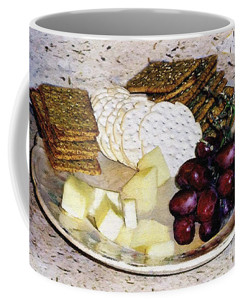 Cheese Coffee Mug featuring the painting Rustic Repast by RC DeWinter