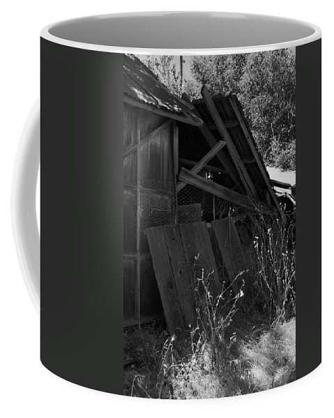 Rustic Coffee Mug featuring the photograph Rustic Shed 4 by Richard J Cassato