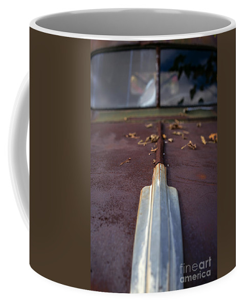 Automobile Coffee Mug featuring the photograph Rusty Old Car by Edward Fielding