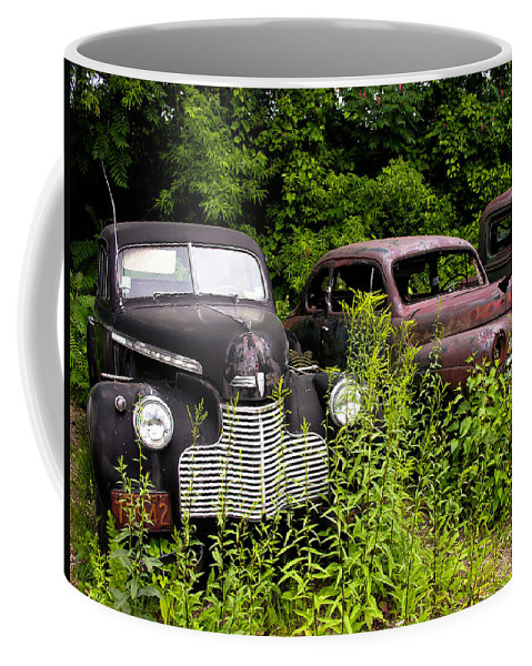 Transportation Coffee Mug featuring the photograph Rusty Old Transportation by Sherman Perry