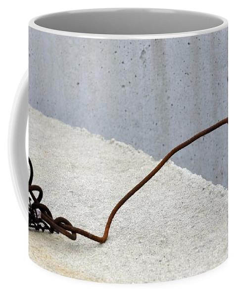 Rust Coffee Mug featuring the photograph Rusty Twisted Metal II by Lilliana Mendez