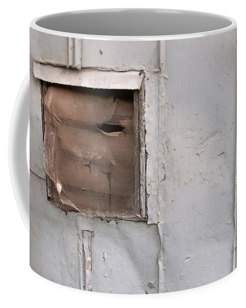Feature Art Coffee Mug featuring the photograph Rusty Vent Face by Paulette B Wright