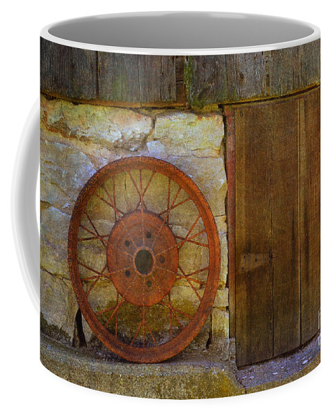 Rusty Wheel Coffee Mug featuring the photograph Rusty Wheel by Luther Fine Art
