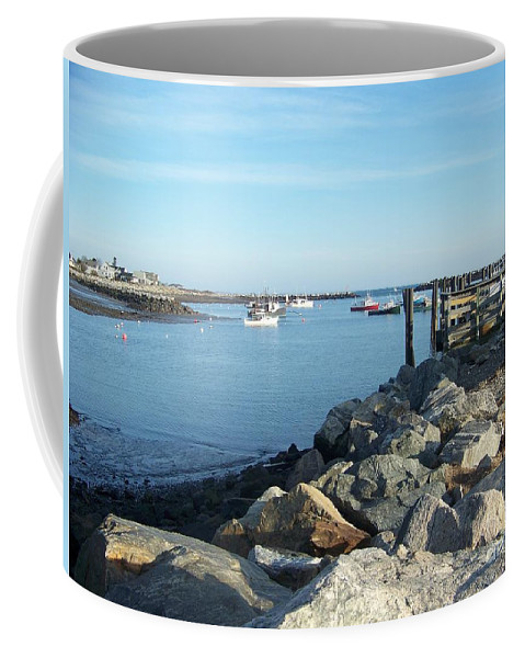 Rye Nh Coffee Mug featuring the photograph Rye Harbor by Eunice Miller