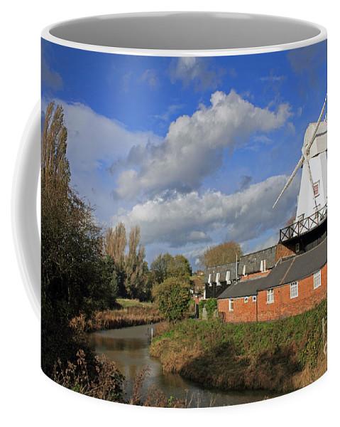 Rye Windmill Uk Sussex River British English Countryside Landscape Coffee Mug featuring the photograph Rye Windmill by Julia Gavin