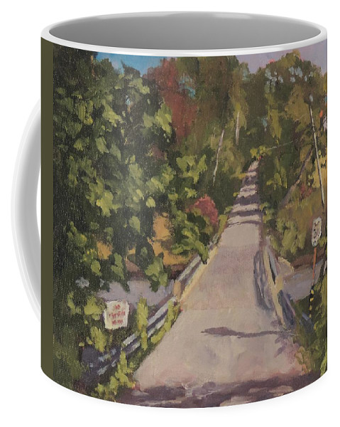 Art Coffee Mug featuring the painting S. Dyer Neck Rd. - Art By Bill Tomsa by Bill Tomsa