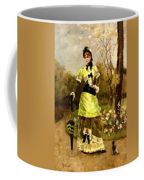 Alfred Stevens Coffee Mug featuring the digital art Sa Majeste La Parisienne by Alfred Stevens