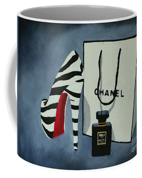 Fashion Coffee Mug featuring the painting Sacred by My Inspiration