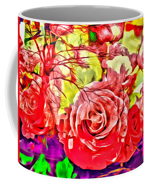 Roses Abstract Cross Coffee Mug featuring the photograph Sacred Roses by Alice Gipson