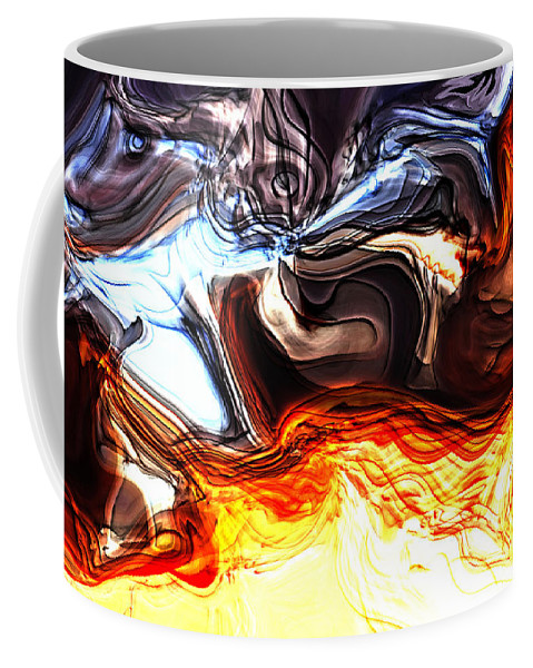 Abstract Coffee Mug featuring the digital art Sacrifice by Richard Thomas