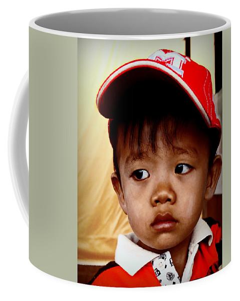 Portrait Coffee Mug featuring the photograph Sad Eyes by Ian Gledhill