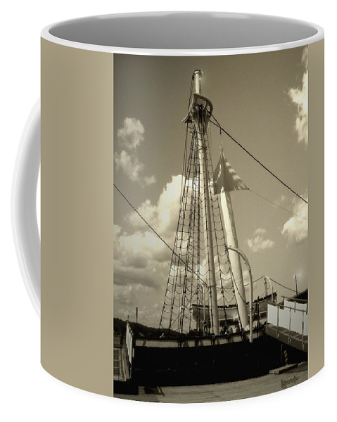 Sailboat Coffee Mug featuring the photograph Safe Harbor At Sunset by RC DeWinter