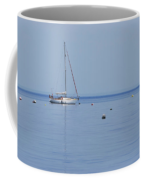 Boat Coffee Mug featuring the photograph Safe Harbour 1 by Wendy Wilton